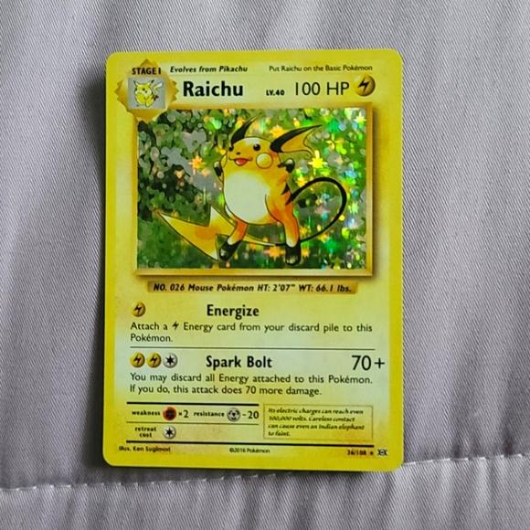 Ultra rare Raichu holo. 36/108 xy